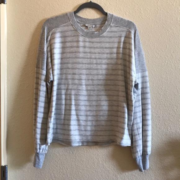 American Eagle grey striped sweatshirt
